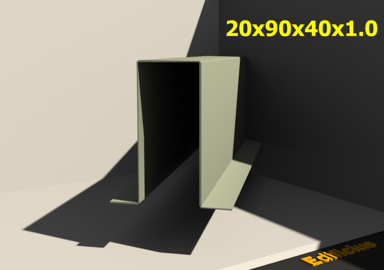 3D Profile - 20x90x40x1.0 - ACCA software