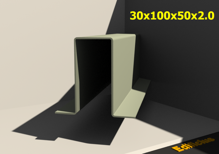 3D Profiles - 30x100x50x2.0 - ACCA software