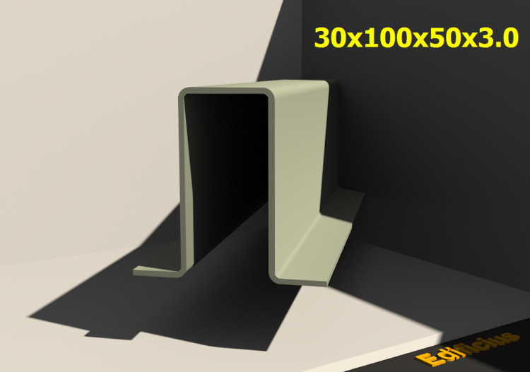 3D Profiles - 30x100x50x3.0 - ACCA software