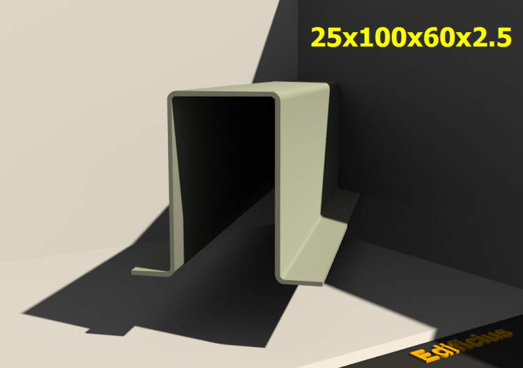 3D Profile - 25x100x60x2.5 - ACCA software