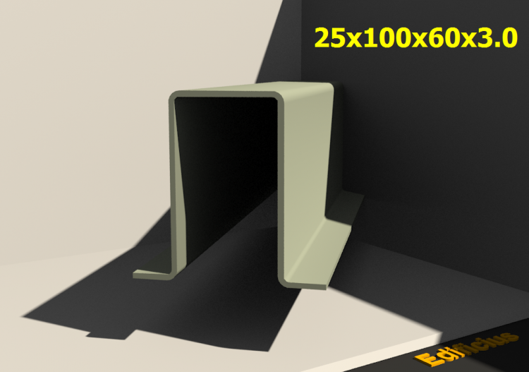 3D Profiles - 25x100x60x3.0 - ACCA software