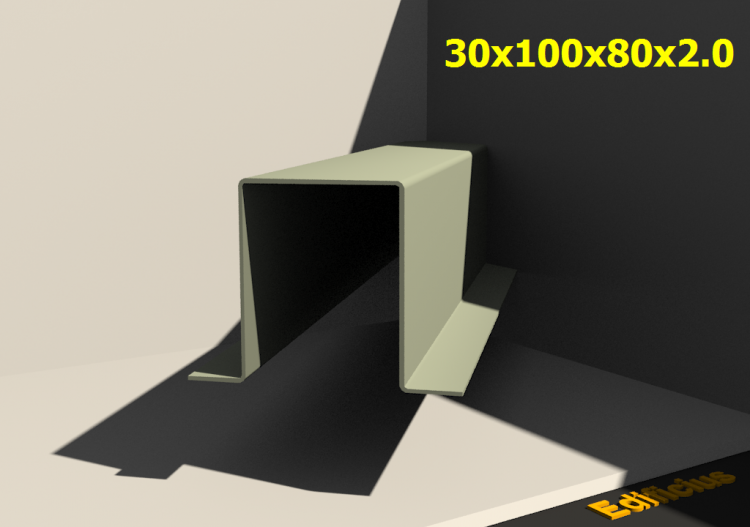 3D Profiles - 30x100x80x2.0 - ACCA software