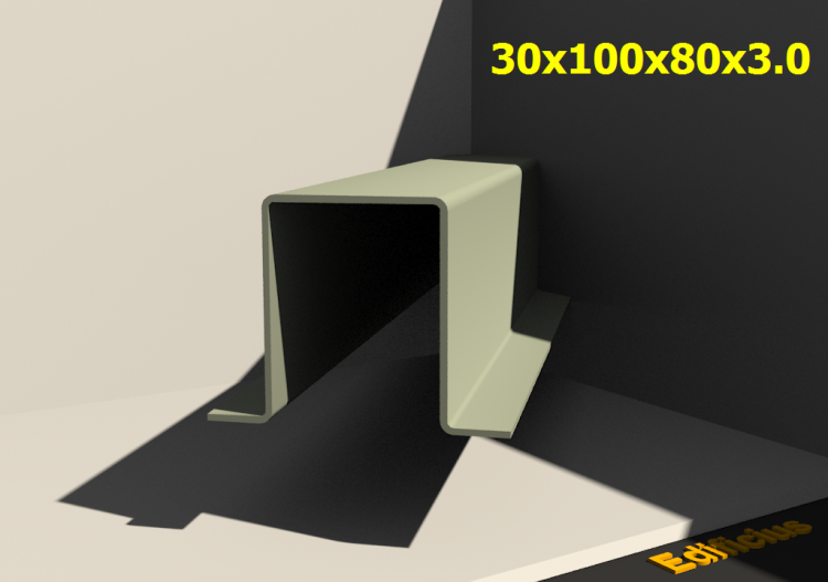 3D Profiles - 30x100x80x3.0 - ACCA software