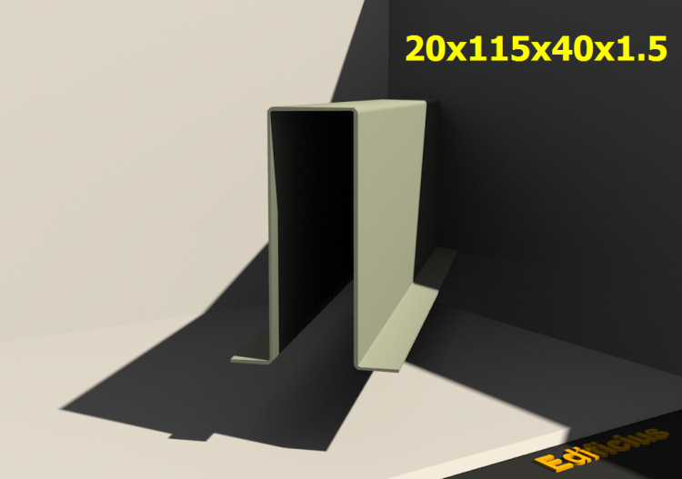 3D Profile - 20x115x40x1.5 - ACCA software