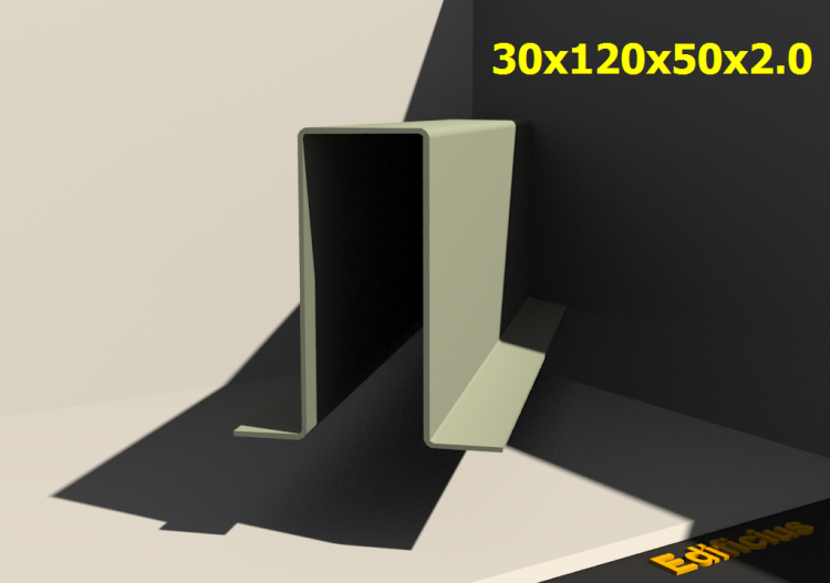 Perfilados 3D - 30x120x50x2.0 - ACCA software