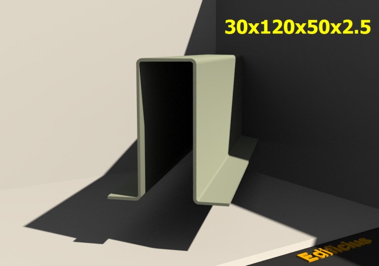 3D Profile - 30x120x50x2.5 - ACCA software