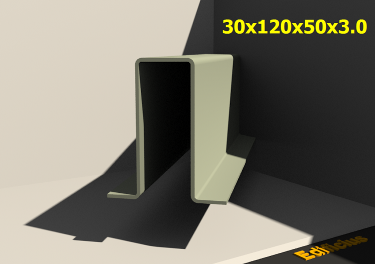 3D Profiles - 30x120x50x3.0 - ACCA software