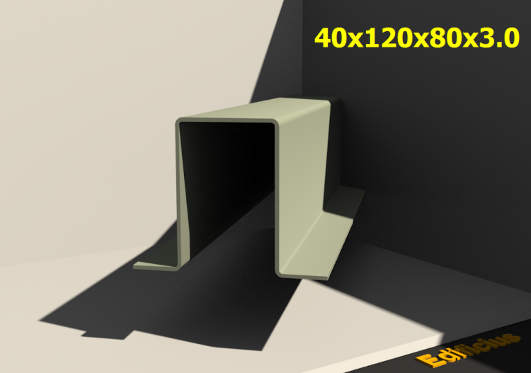 3D Profiles - 40x120x80x3.0 - ACCA software