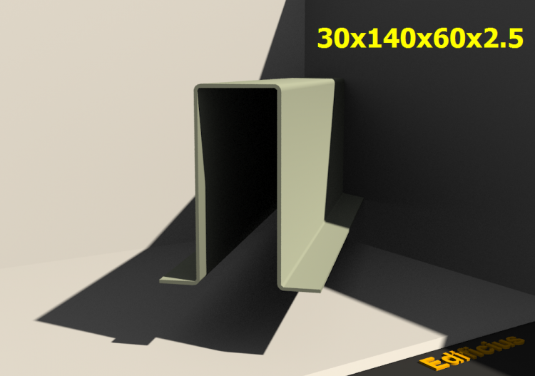 Perfilados 3D - 30x140x60x2.5 - ACCA software