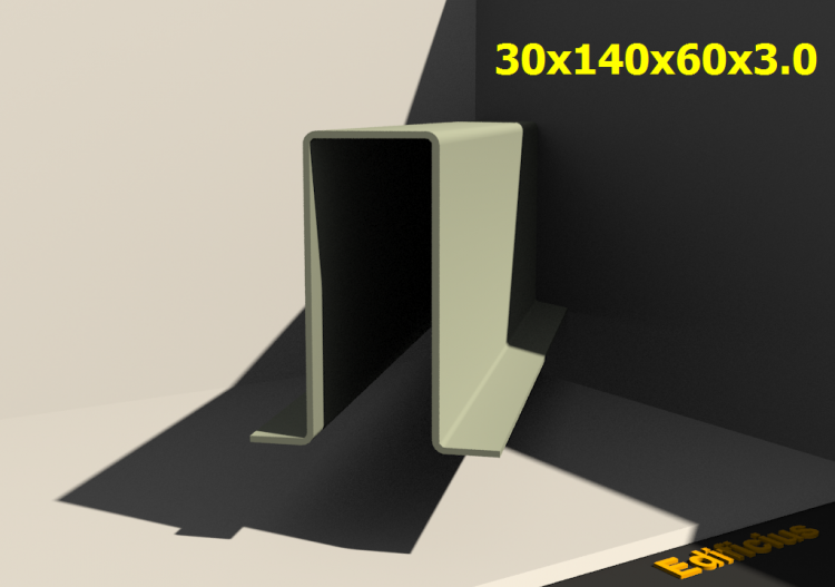 3D Profile - 30x140x60x3.0 - ACCA software