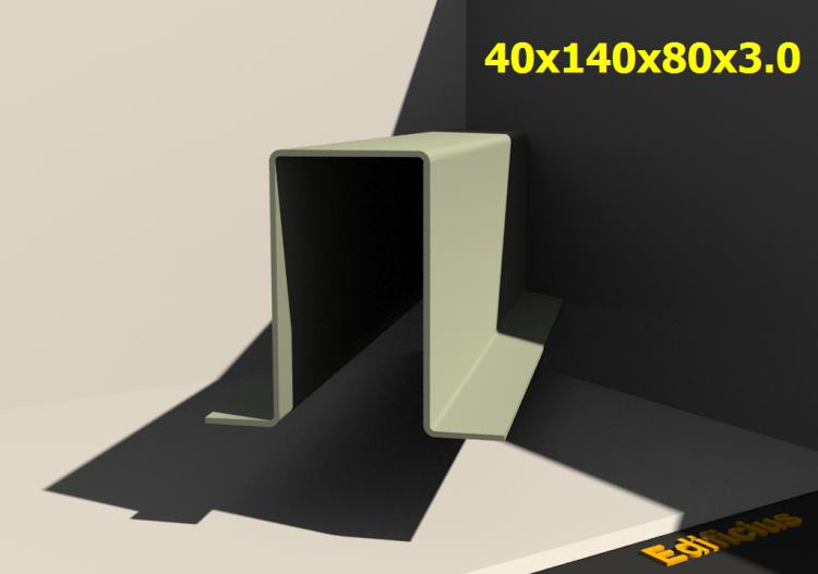 3D Profile - 40x140x80x3.0 - ACCA software
