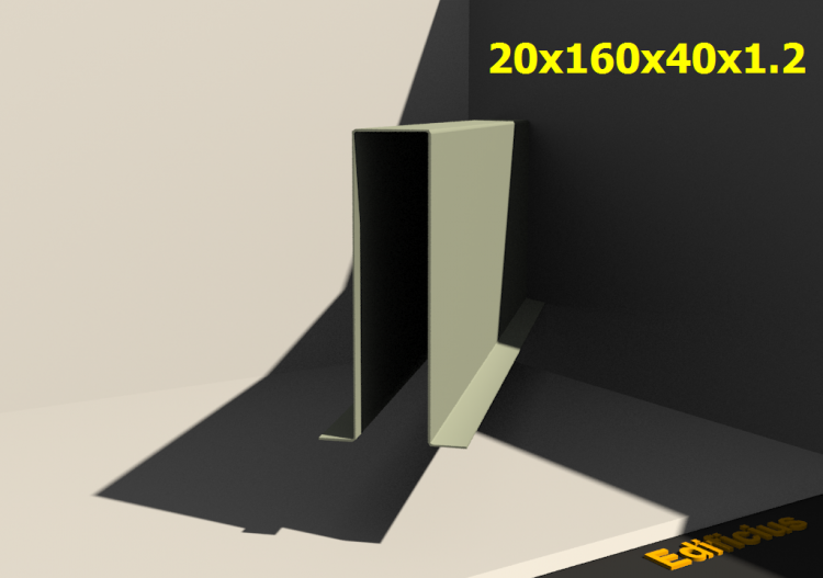 3D Profile - 20x160x40x1.2 - ACCA software