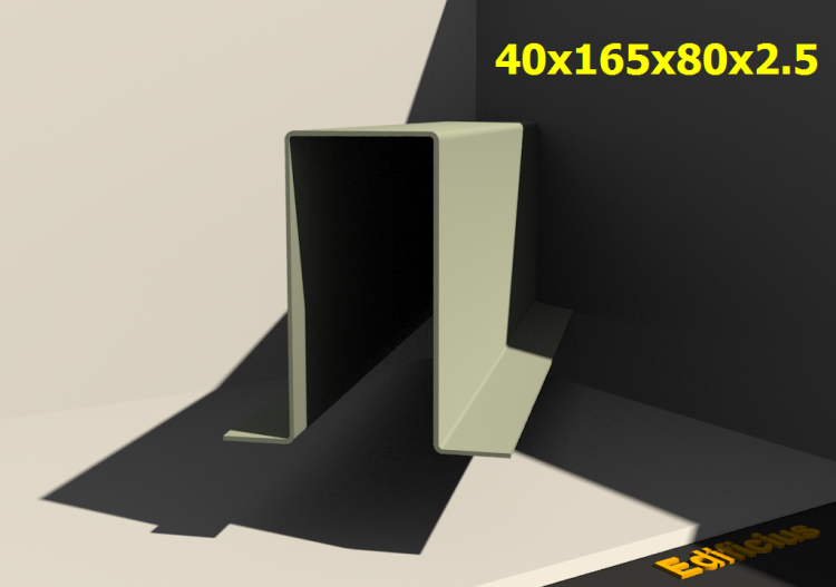 3D Profile - 40x165x80x2.5 - ACCA software