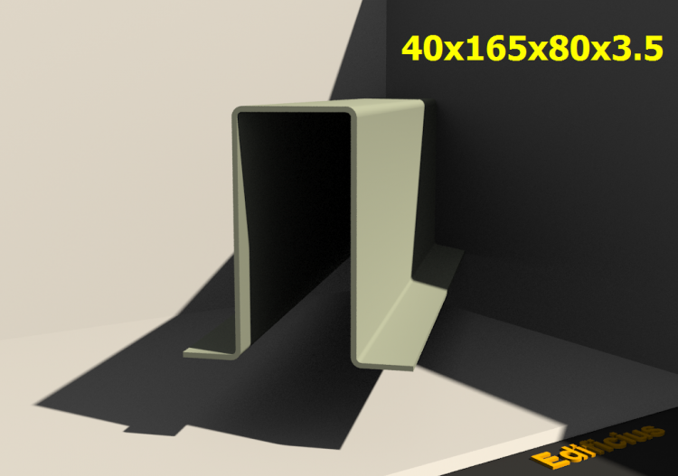 3D Profile - 40x165x80x3.5 - ACCA software