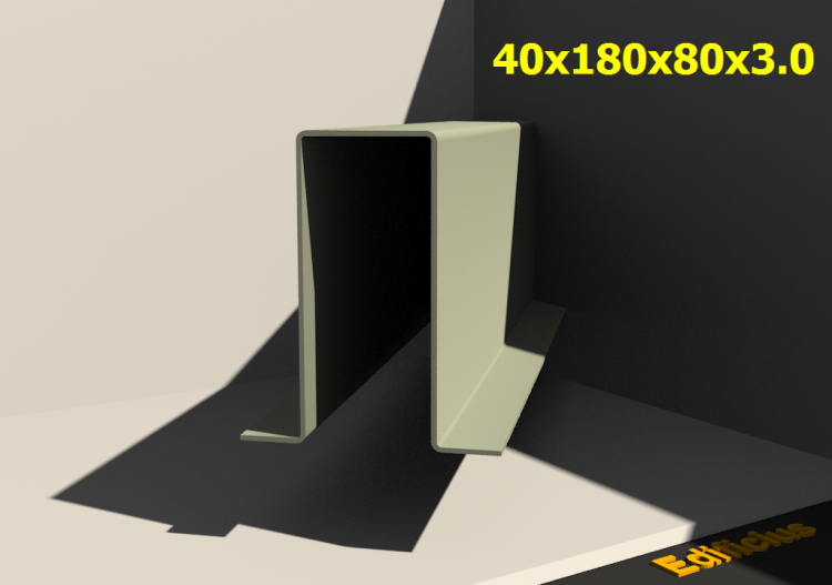 Perfilados 3D - 40x180x80x3.0 - ACCA software