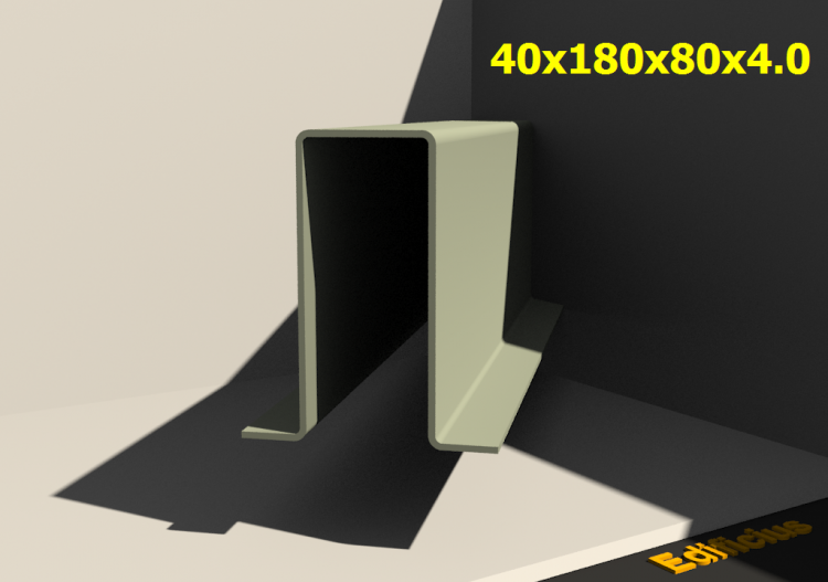 3D Profiles - 40x180x80x4.0 - ACCA software