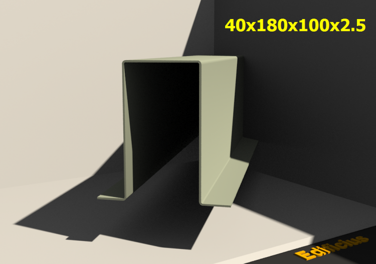 3D Profile - 40x180x100x2.5 - ACCA software