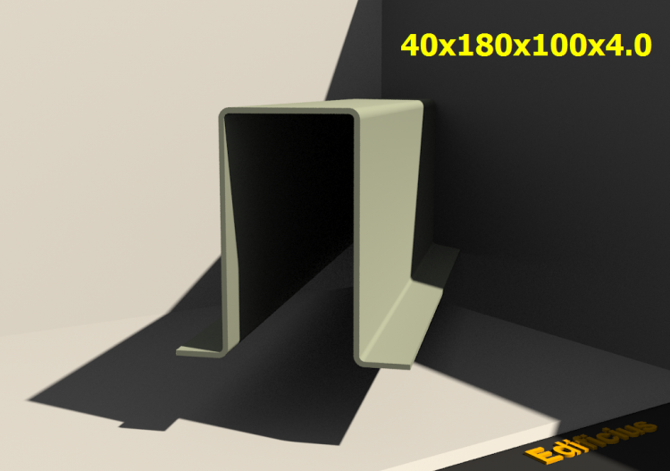 3D Profiles - 40x180x100x4.0 - ACCA software