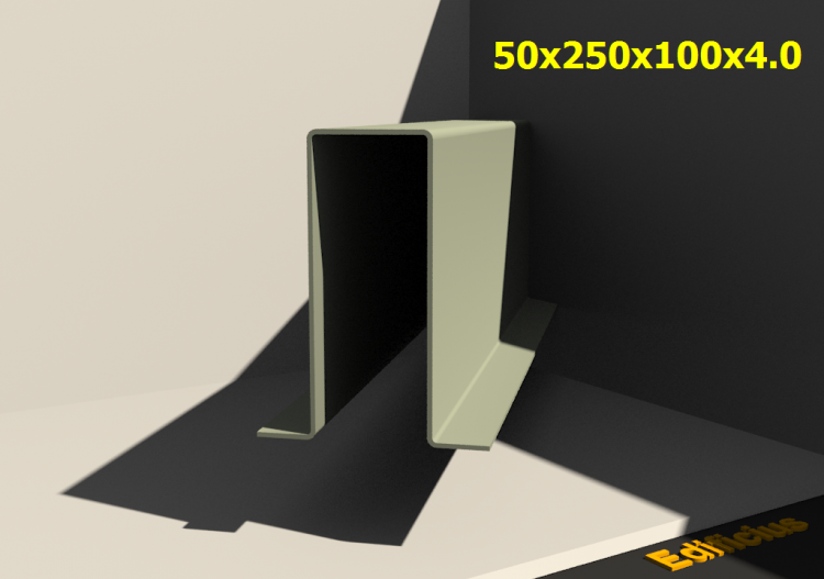 3D Profiles - 50x250x100x4.0 - ACCA software