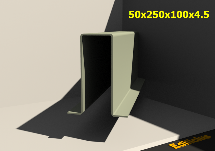 3D Profile - 50x250x100x4.5 - ACCA software
