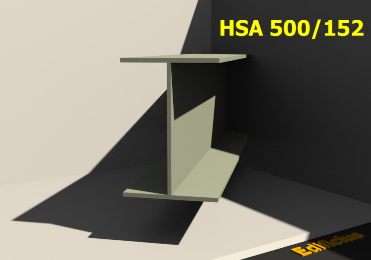 Welded Profiles 3D - HSA 500/152 - ACCA software