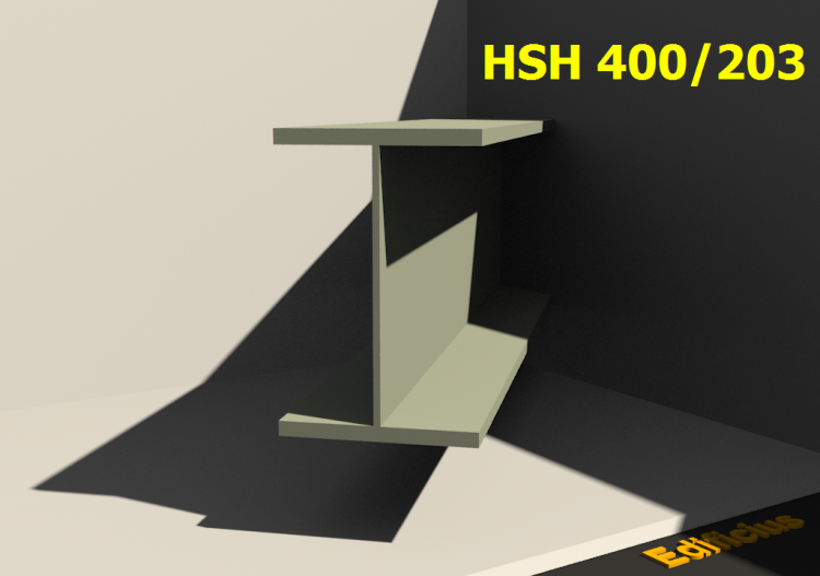 Welded Profiles 3D - HSH 400/203 - ACCA software