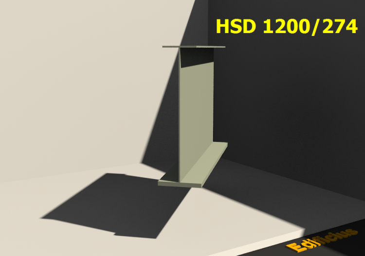 Perfiles soldados 3D - HSD 1200/274 - ACCA software
