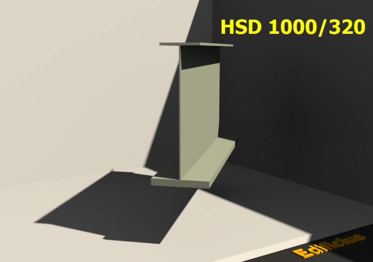 Perfiles soldados 3D - HSD 1000/320 - ACCA software