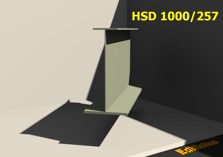 Perfiles soldados 3D - HSD 1000/257 - ACCA software