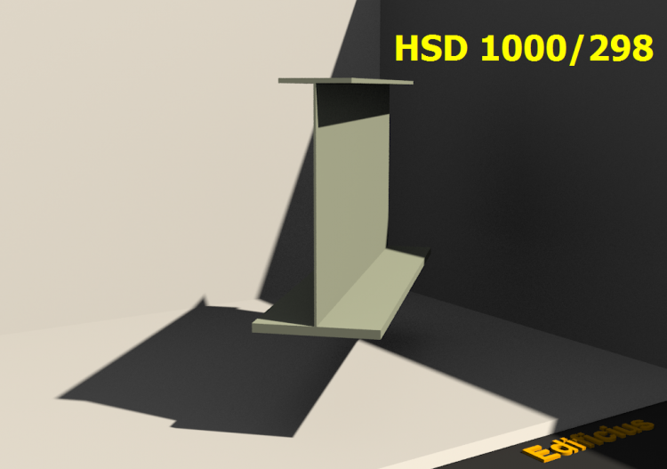 Perfiles soldados 3D - HSD 1000/298 - ACCA software