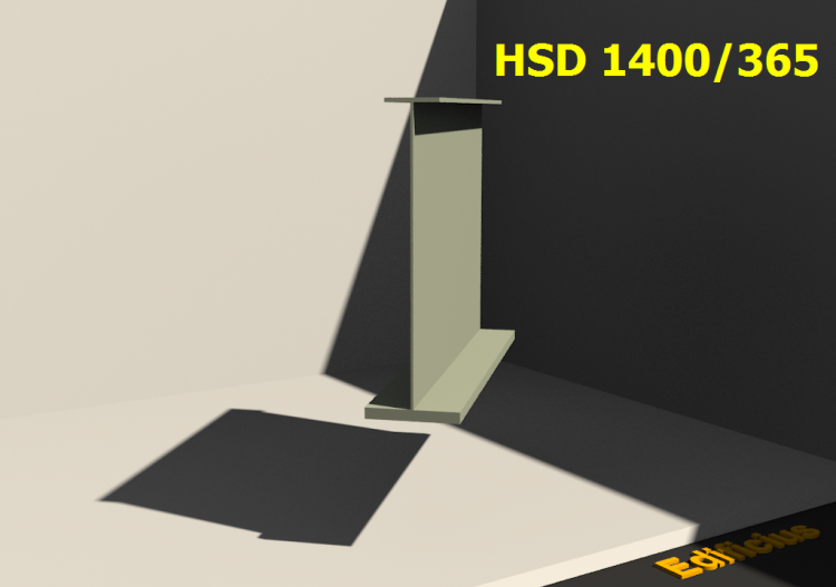 Perfiles soldados 3D - HSD 1400/365 - ACCA software