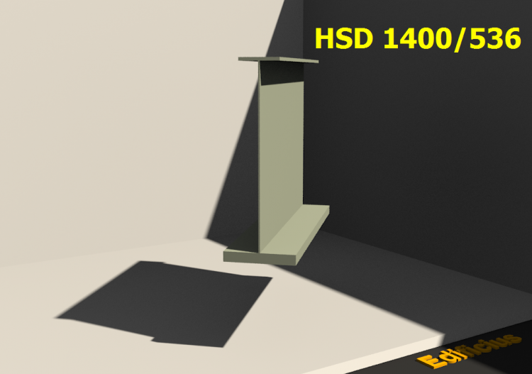 Welded Profiles 3D - HSD 1400/536 - ACCA software