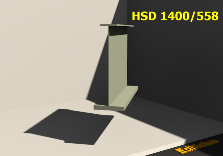 Welded Profiles 3D - HSD 1400/558 - ACCA software