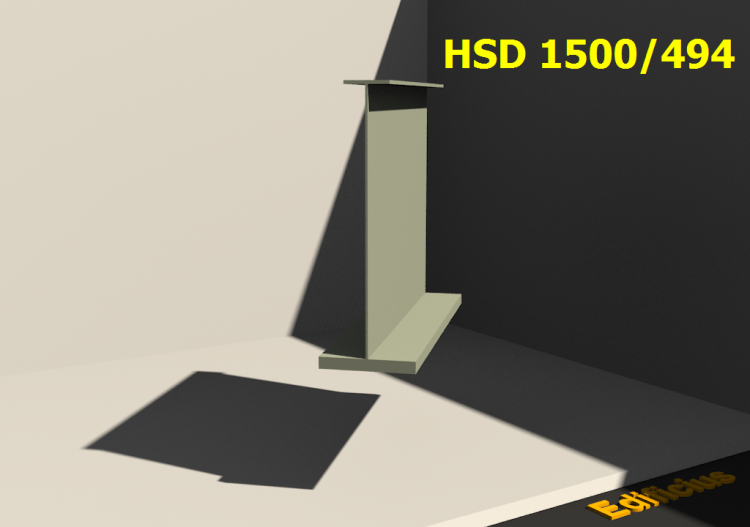 Perfiles soldados 3D - HSD 1500/494 - ACCA software