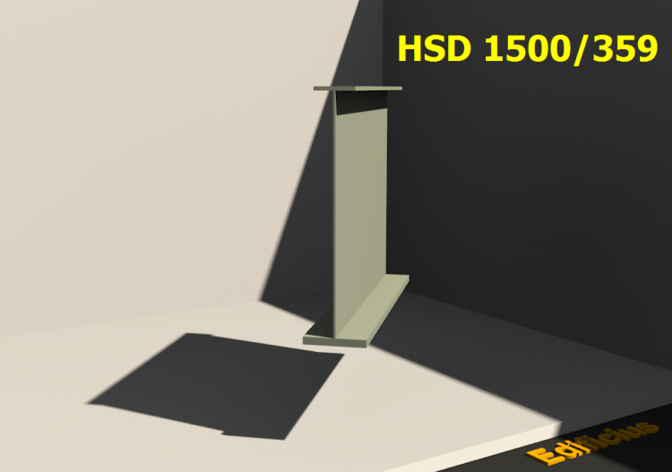Perfiles soldados 3D - HSD 1500/359 - ACCA software